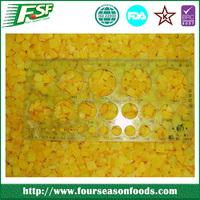 2015 new season crop frozen yellow peach dice