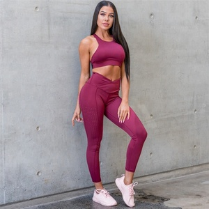 Hot Solid Color Women Yoga Clothes Fitness Yoga Sport Sets,Private Logo Gym Running Suits Wholesale