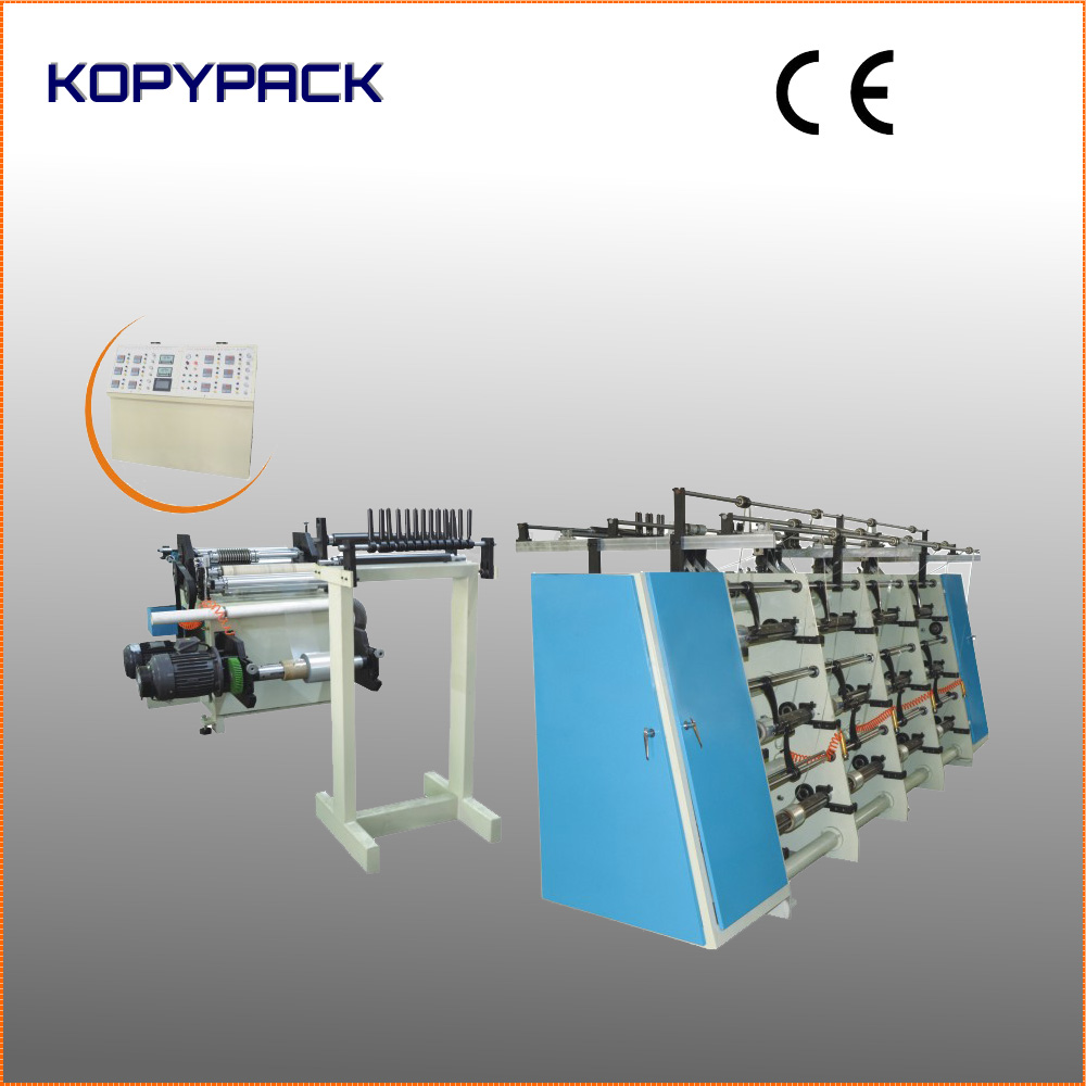 Multiple Heads Slitting And Traverse Winding Machine Spooling ...