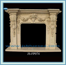 decorative handmade cream marble new aire fireplace