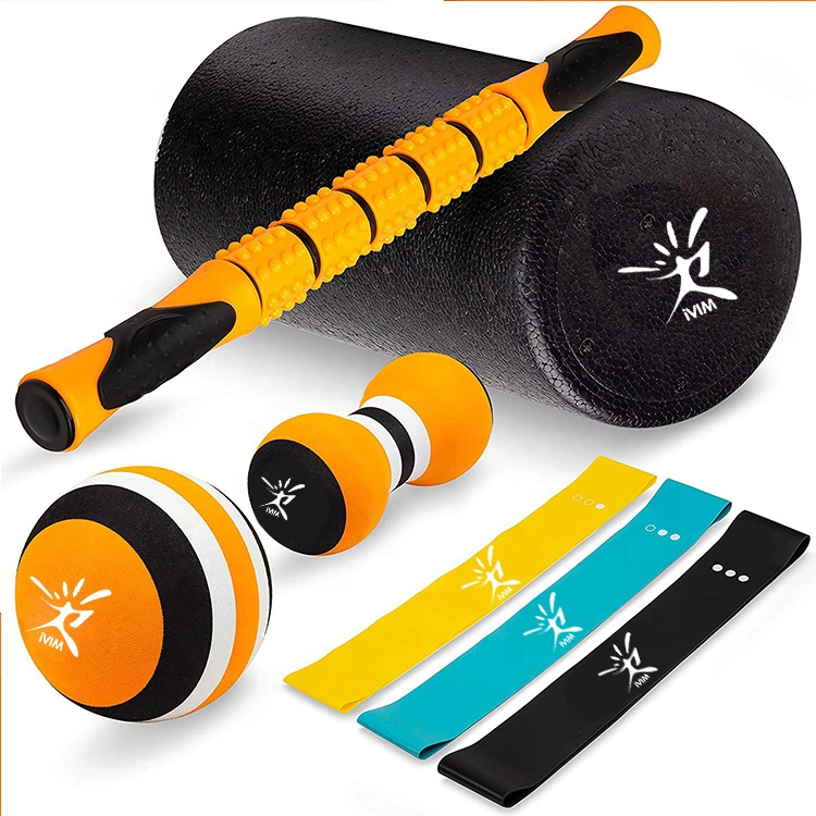 customize foam roller,massage stick,massage <strong>ball</strong> and resistance loop bands