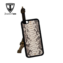 Hard Snakeskin Leather Natural Color Mobile Cell Phone Case