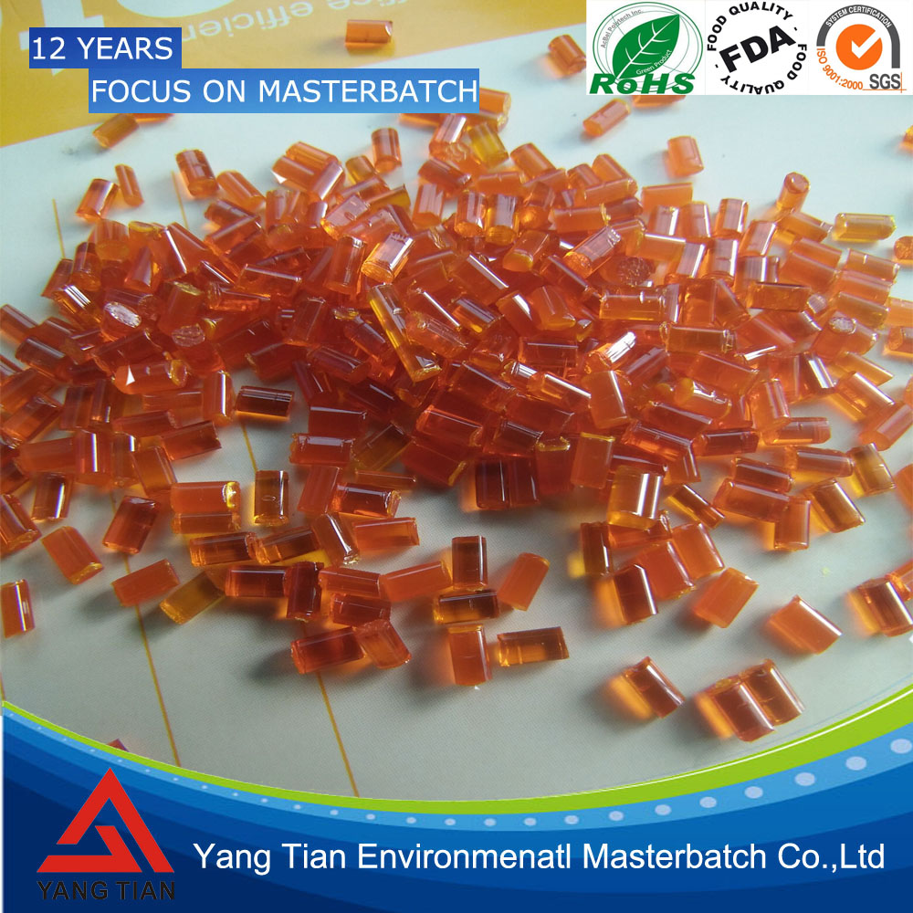PET transparent yellow color plastic masterbatch