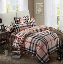 Plaid patchwork bedding sets Patchwork luxury bedspread /high-class bedcover