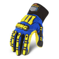 Ironclad kong IPW SDXW2 High Visibility Safety gloves Impact gloves Breathable waterproof Maximum Grip gloves