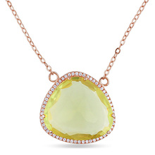 2017 marvelous costume lemon quartz jewelry necklace