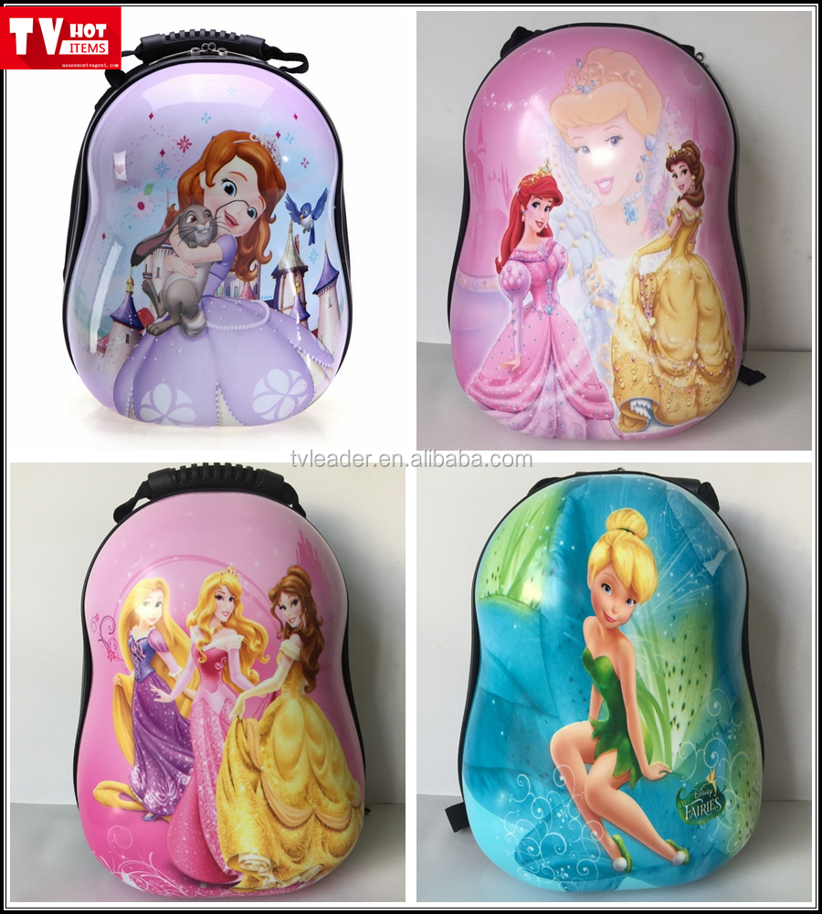 2016 Innovation Kid backpack ABS eggshell cartoon school bag for kids comic backpack
