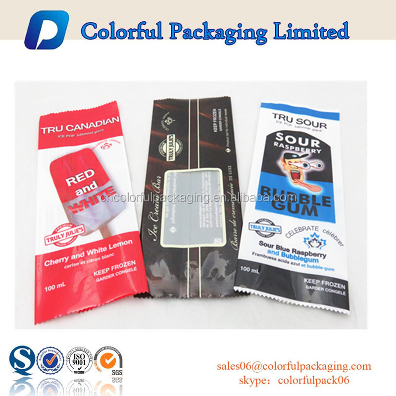Plastic popsicle packaging ice cream plastic packaging