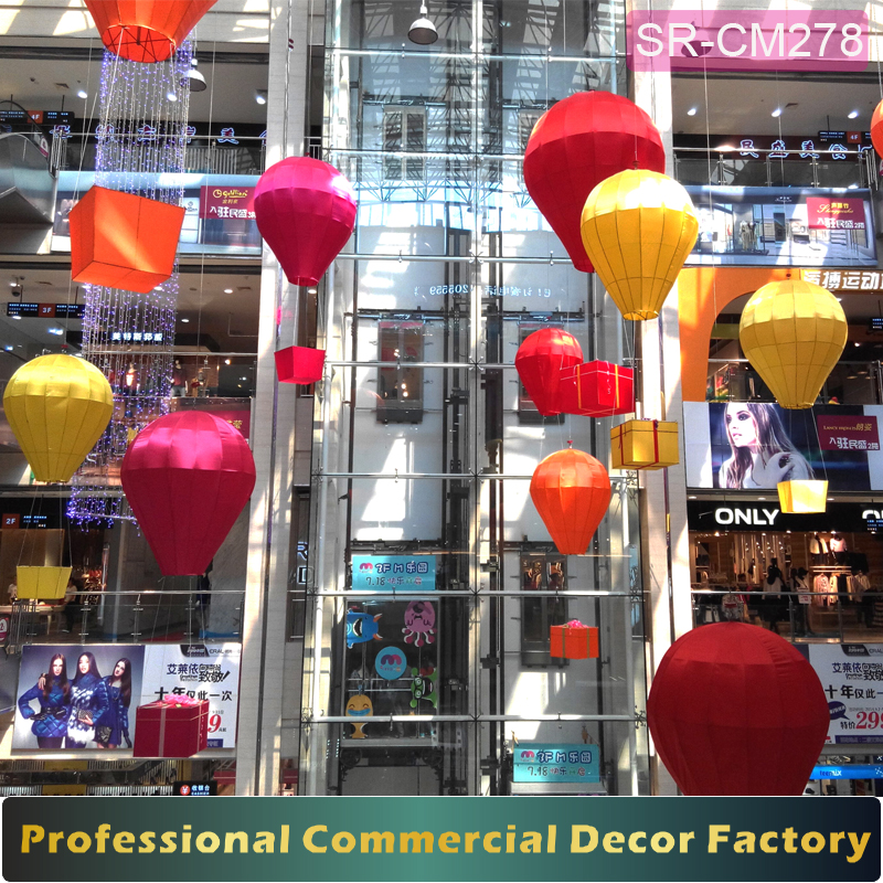 Custom commercial summer Spring shopping mall air balloons decoration