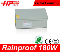 Professional factory provide smps 12v rohs power supply constant voltage single output Rainproof 180w power smps module