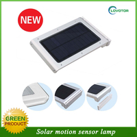 Garden motion sensor solar light with solar panel and battery