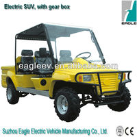 off road Electric ATV,4 seats with cargo bed , CE approved