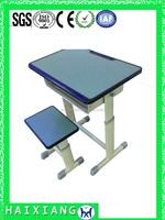 adjustable school desk and chair cheap modern school furniture HXZY054
