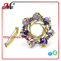 C0765 Jingmei fashion Yellow gold Cz flower bulk rhinestone brooches