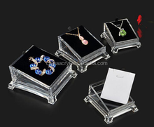 Fashion Acrylic Clear Jewelry Necklace Pendant Earing Display Holder Stands