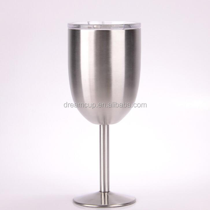 2017 new Stainless Steel Wine Glass, Metal Red Wine Goblet