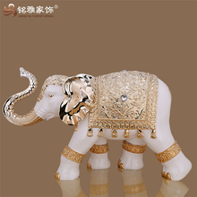 Modern home interior decorative polyresin large elephant statues for floor decor