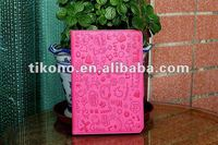 New design handbag leather case for ipad mini with sleep/wake up function