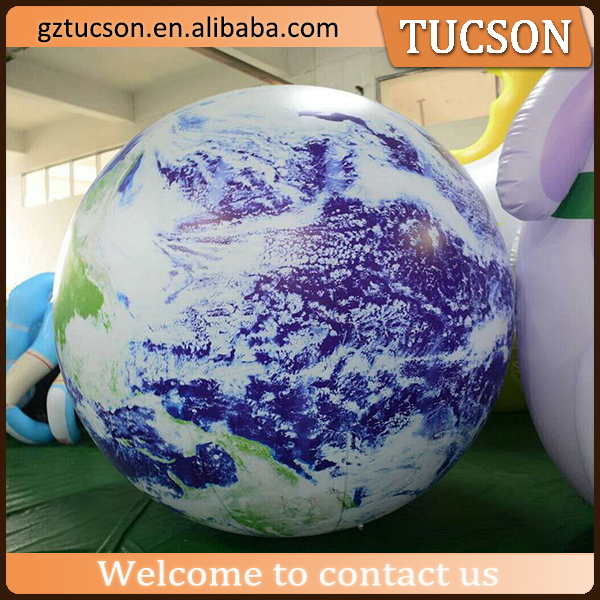 Giant customized inflatable earth balloons /globe balloons for advertising