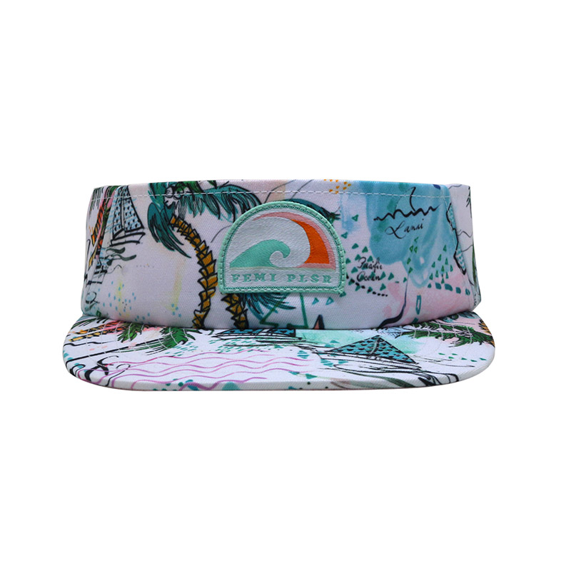 Print Woven Patch Custom Golf Visor Cap