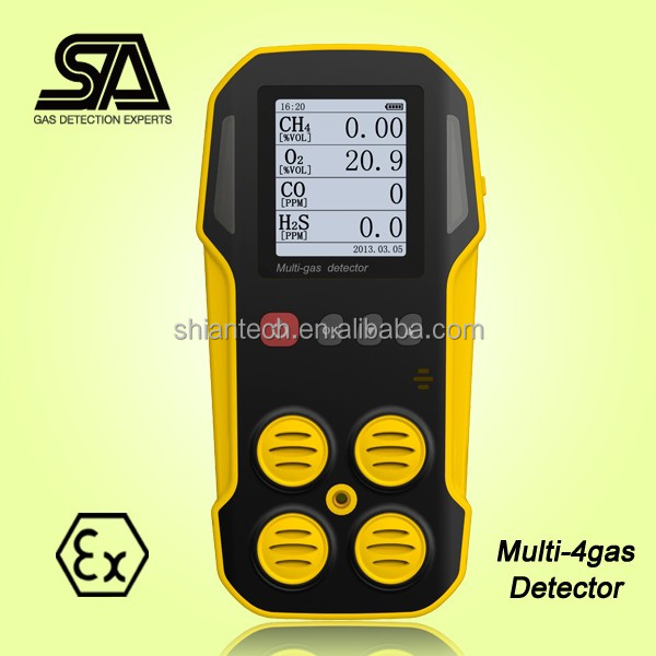 Gas Analyzer, CH4, CO, O2, H2S Portable Multi Explosive Gas Detector