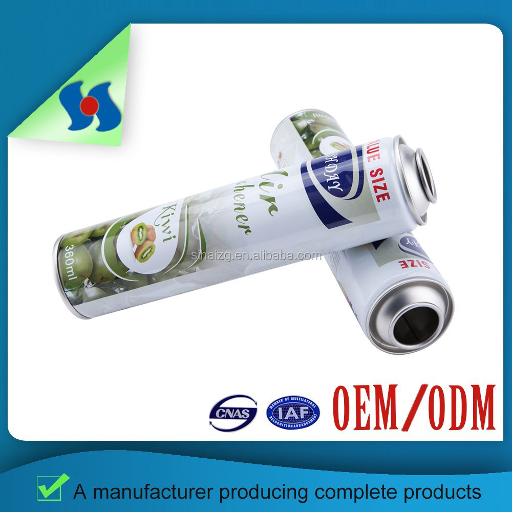 Guangzhou factory supply high quality necked-in empty aerosol tin can 200ml
