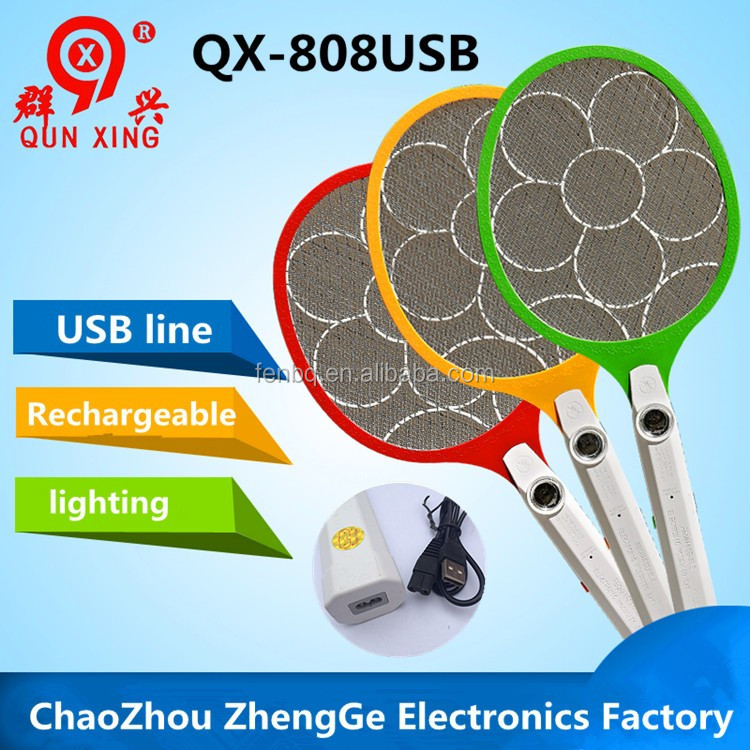QX808USB-3 indoor and outdoor High Efficiency Electric Fly Killer indoor insect killer bat used by USB line