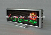 6 characters multi-language arabic two color led desk message sign