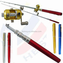 HOT Mini Pocket Size Pen Shaped Collapsible Fishing Rod Pole