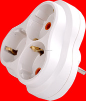 YW-7356 3gang socket travel adaptor