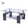 Living Room Furniture black painted glassCentre Glass Coffee Tea Table Design