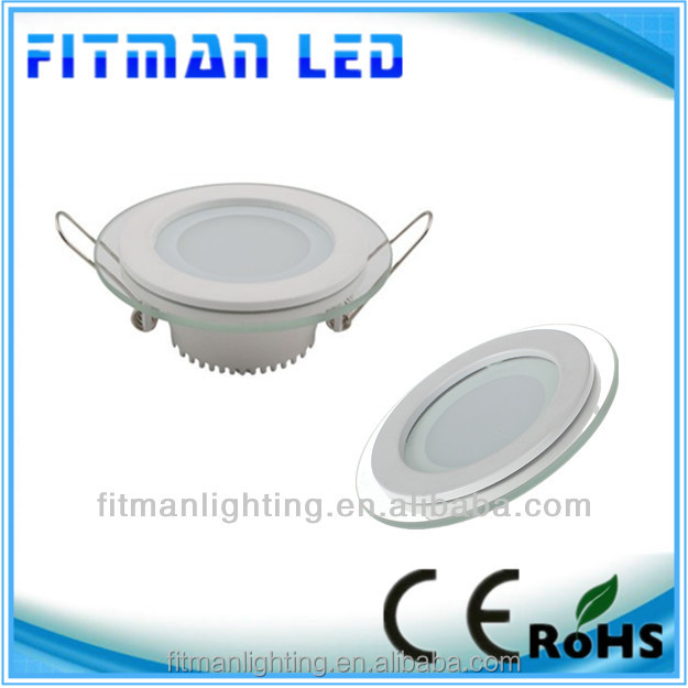 6W led downlight panel with glass from zhong shan led factory