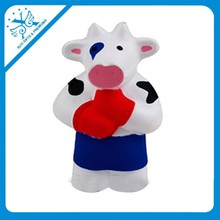 pu stress cow toys customized logo printed pu cow