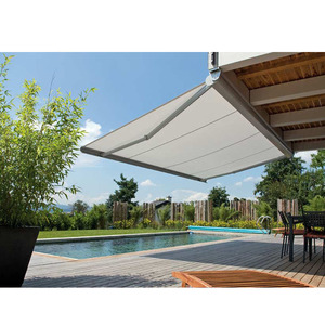 Retractable awning outdoor electric car roof awning