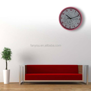 10.12 inches Personality bedroom and living room plastic round wall clock with art 25.30 cm