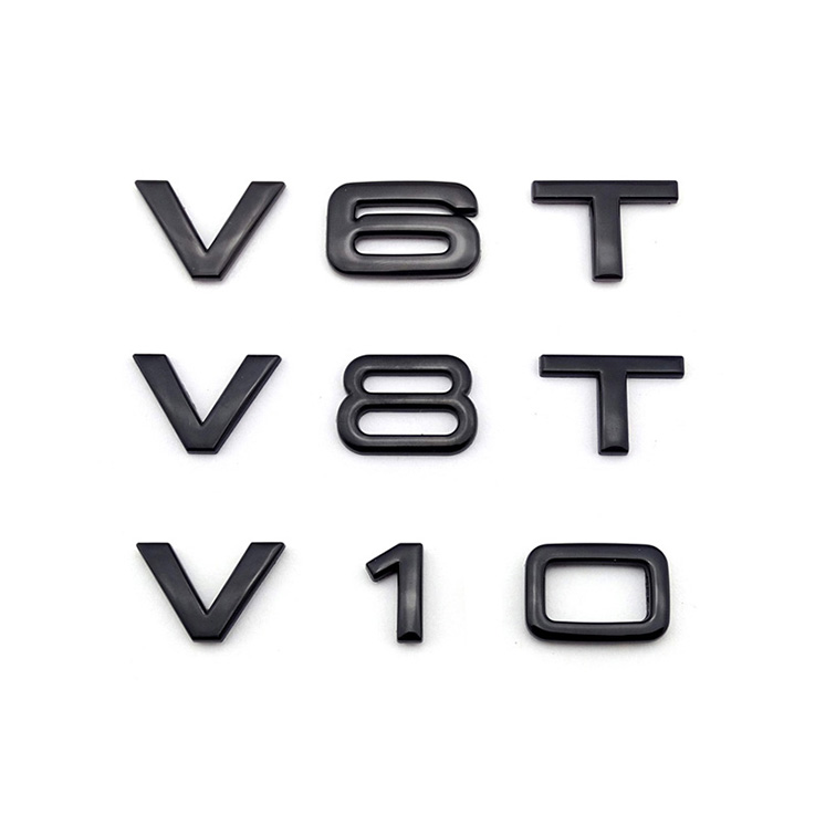 V8T V6T Brand Custom Logos 3d Stickers Chrome Abs Car Emblem logo badge