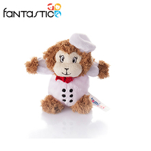 Factory price white monkey plush dog chew toy