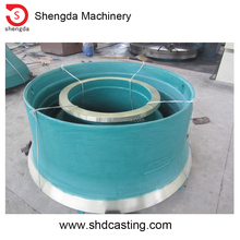 High quality and durable manganese liners replacement wear parts bowl liners mantle ring of cone crushing equipemts