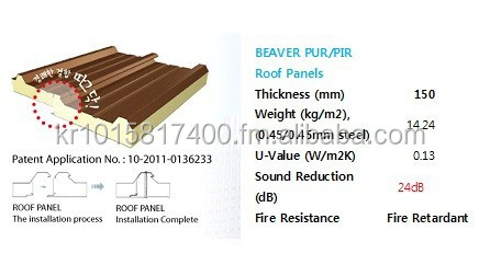 PIR/PUR Roof Panels with Special Design (Patient)
