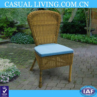 high quality outdoor wicker chair high back rattan dining chair