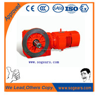 Factory export hollow bore three phase motor with gear box K37