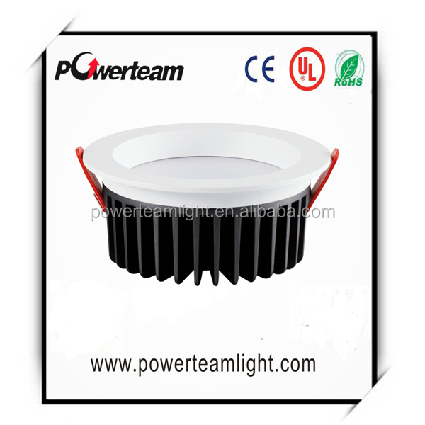 Dimmable Meanwell driver high power LED aluminum led downlight with 160mm cut out