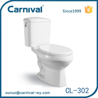 China supplier two-piece closestool S-trap w.c. toilet CL-302