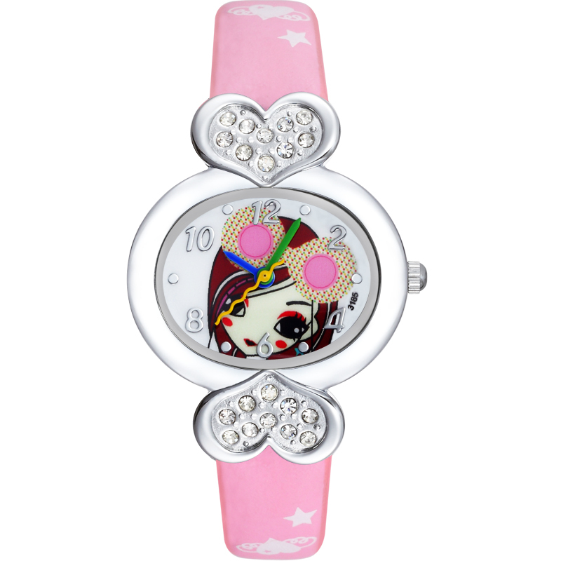2016 leather fancy watches for child