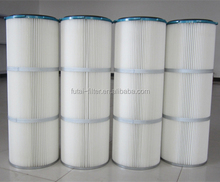 Air handling unit dust collector polyester cartridge air filter