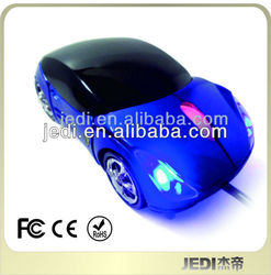 Ferrari Car Shaped Optical USB Mouse Blue