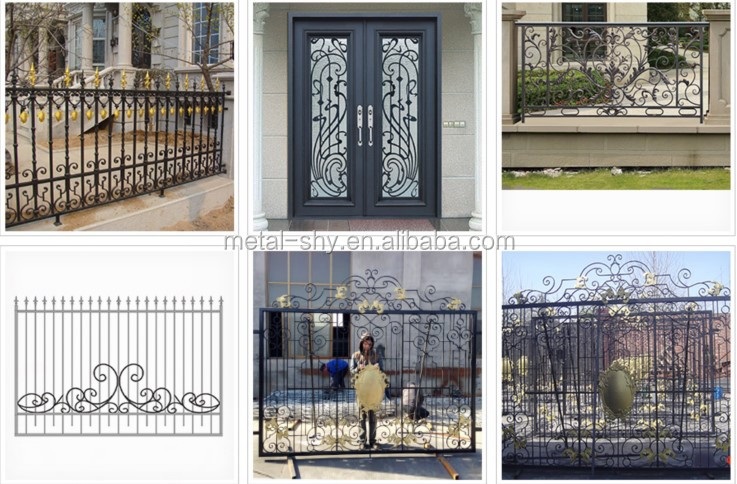 China supplier cheap wrought iron steel fence panels for sale