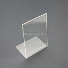 Cheap products A4 acrylic transparent insert paper display stand, display holder, sign holder