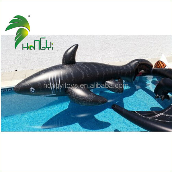 Hot Popular Durable Shark Inflatable Toy / PVC Floating Inflatable Water Animal Cartoon
