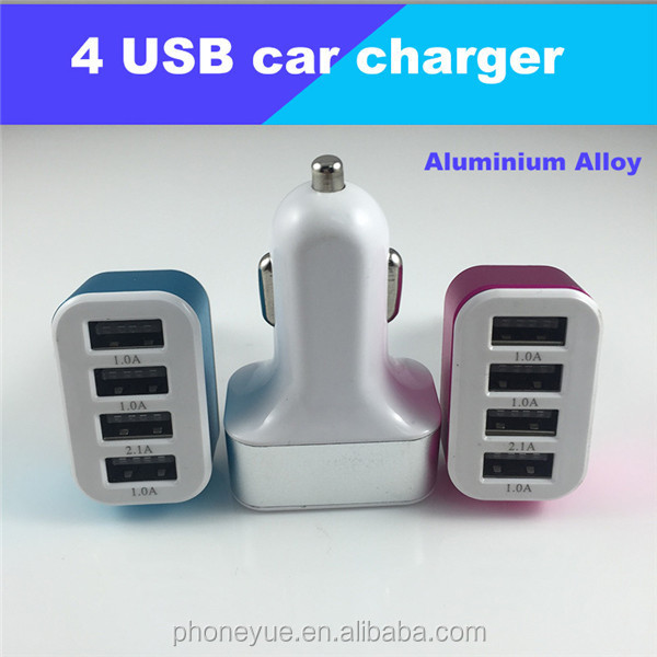 colorful multiple mobile phone 5v 2.4a/3.1a micro usb car charger